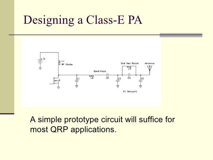 Class e power amplifiers for qrp2 qro