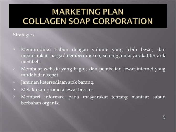 marketing plan for new soap In this edited excerpt, the authors explain the simple steps involved with creating a marketing plan for your new business some marketing tactics.