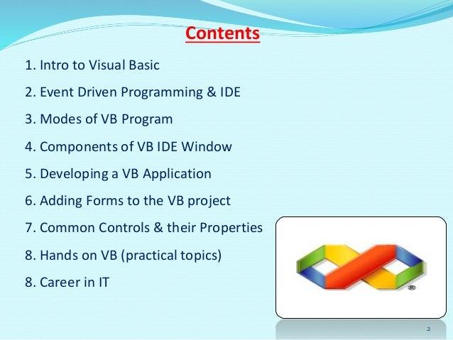Class viii ch-7 visual basic 2008