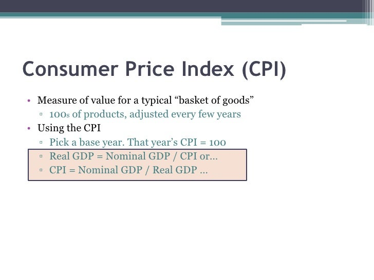an overview of the consumer price index measurement Foundation of analysis: retail measurement data slide  data collection & qualitysource of information consumer sales retail price.