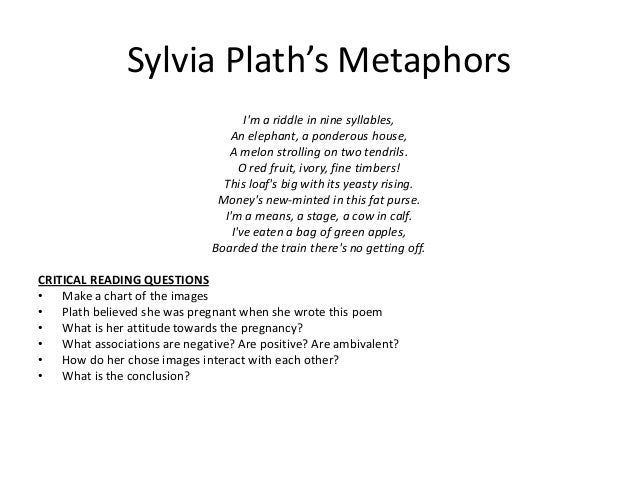 "literary explication sylvia plaths daddy The poem can be regarded as a retrospective investigation of the self through the ""unmisted"" eyes of a mirror source:freedman, william ""the monster in plath's 'mirror' (sylvia plath."