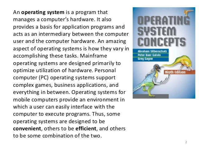 an introduction to operating systems and the basis of computer programs Basic concepts of computer 11 introduction  identify the basic components of a computer  the operating system, application programs and the.