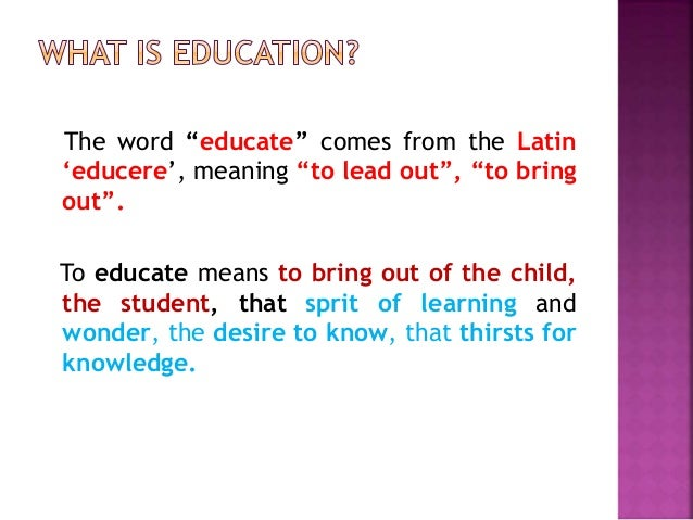 education word