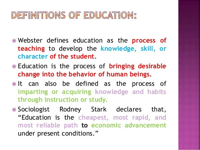 defination of education Definition of education written for english language learners from the merriam- webster learner's dictionary with audio pronunciations, usage examples, and.
