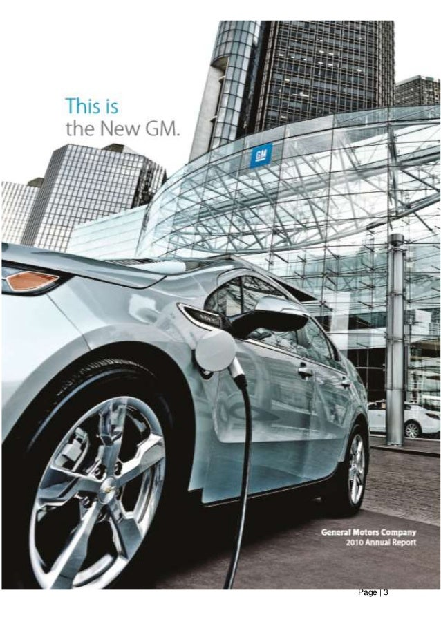 an internal and external analysis of general motors position in 2009 Internal audit and management entity  position of internal audit in economic  the directives of the managing committee of general motors in the us and.