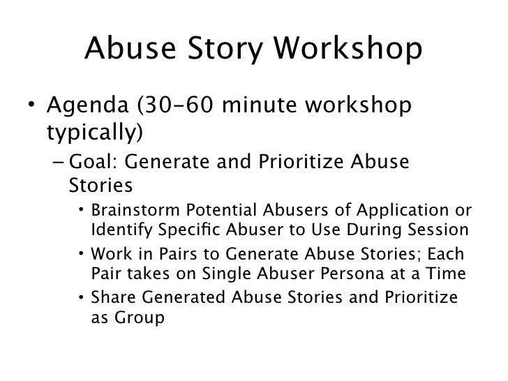 ... 32. Abuse Story ...