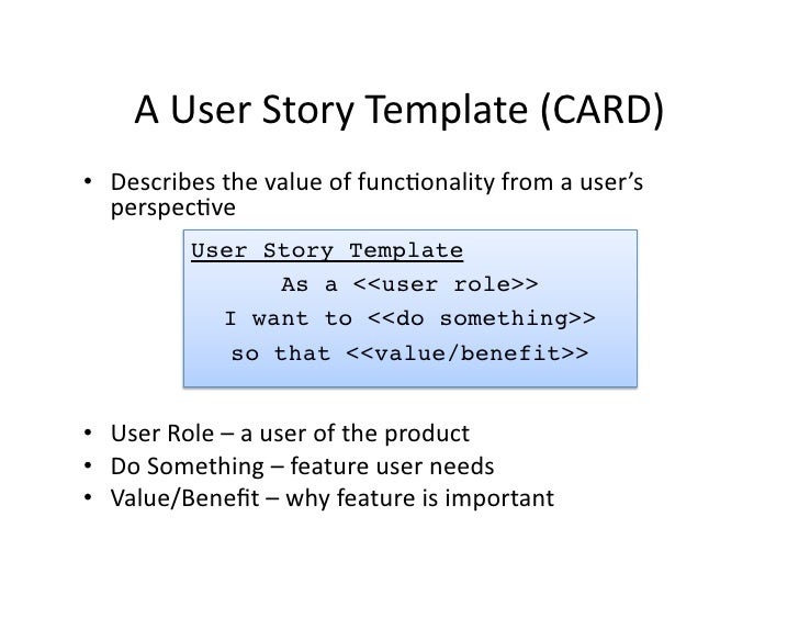 UW ADC Course 3 Class 1 User Stories And Acceptance Testing – User Story Template
