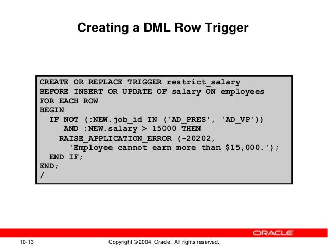 Oracle trigger if updating column