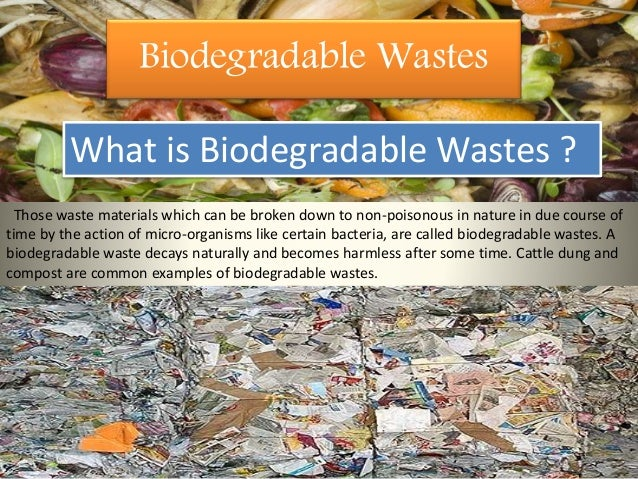 what is non degradable
