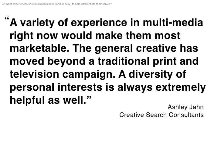 MCAD Future of Advertising: Your Portfolio