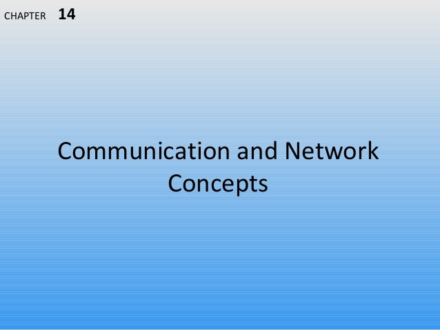 Communication and Network Concepts CHAPTER 14