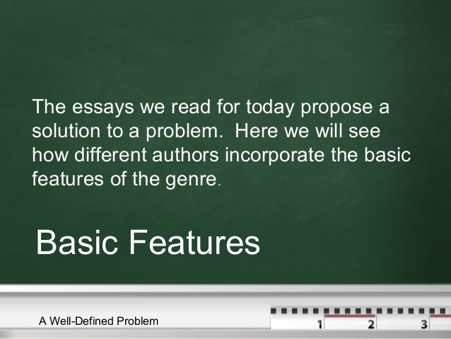 Basic features of problem solution essay
