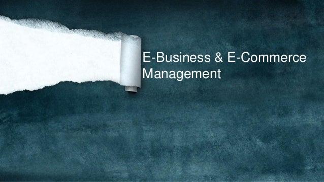 E-Business & E-Commerce Management