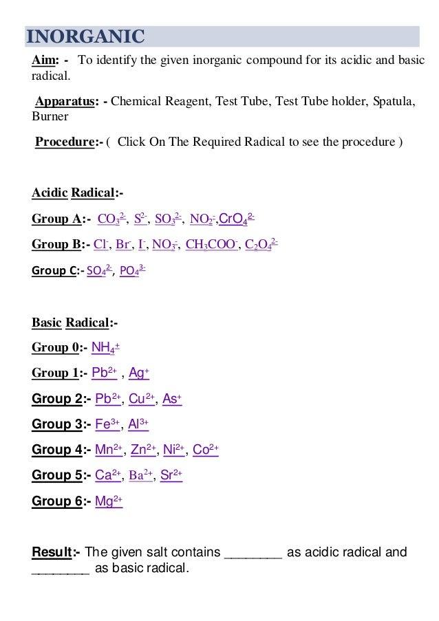 Class 12 Cbse Chemistry Practicals
