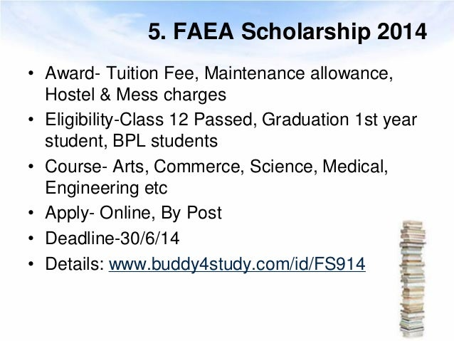Scholarships for class 12 passed indian students 6 5 faea scholarship 2014 award thecheapjerseys Choice Image
