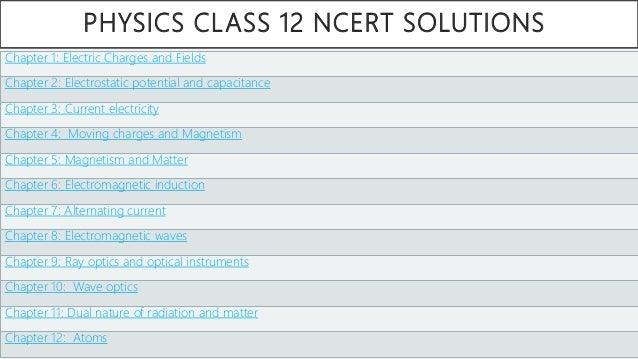Class 12 Physics NCERT - PDF Notes