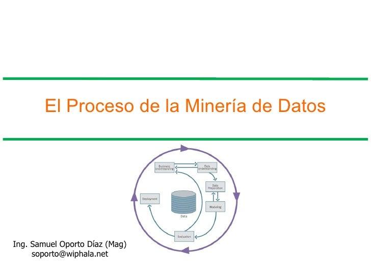El Proceso de la Minería de Datos Ing. Samuel Oporto Díaz (Mag) [email_address]