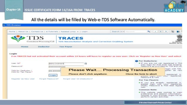 Traces Form 16