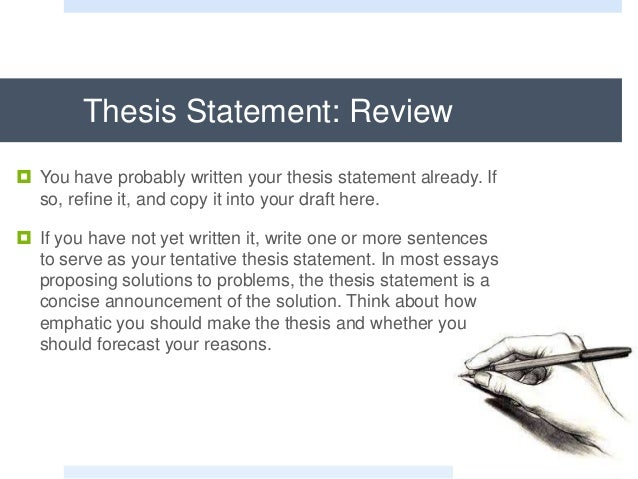 different parts of thesis proposal A thesis statement informs the reader the point of your composition an effective thesis contains two parts: your argument proposal and support for your claim the first part declares your argument, and the second part states the point of the paper.