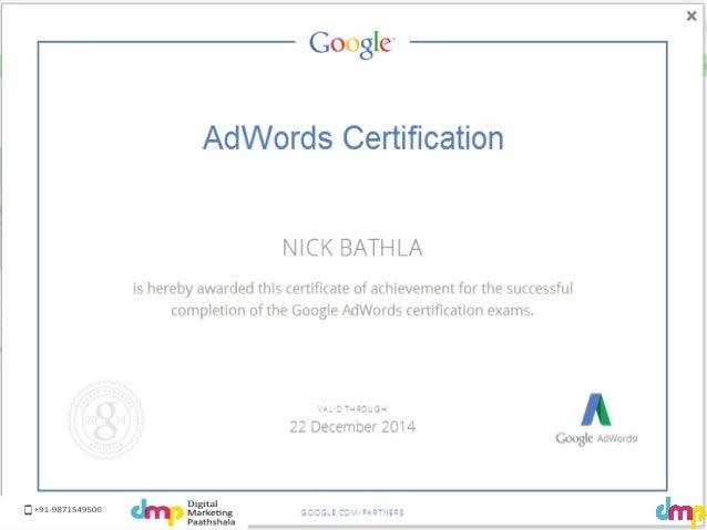 Basics of Google Adwords explained and presented by Digital Marketing Paathshala, get google Adwords training. Slide 3
