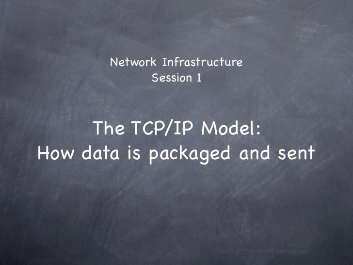 Network Infrastructure             Session 1     The TCP/IP Model:How data is packaged and sent