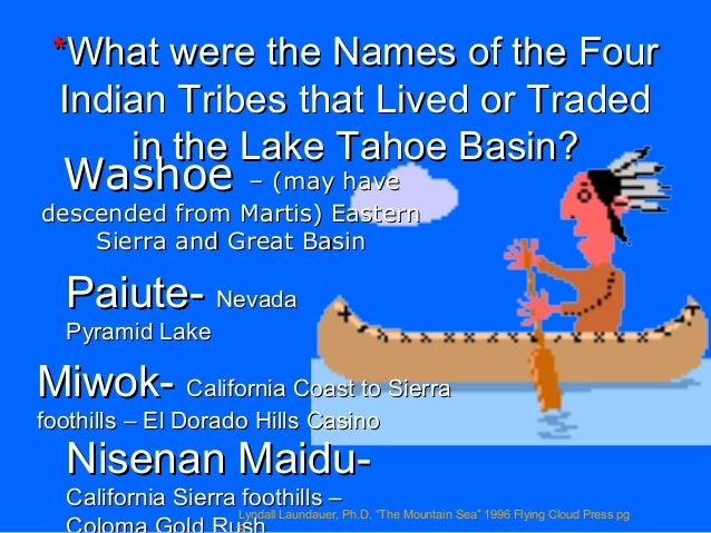 Class 1 tahoe geology and native americans 2015