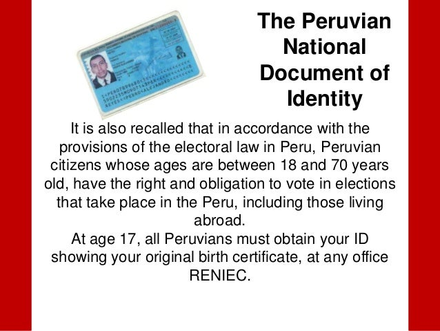 Dni the peruvian national document of identity 2 yadclub Image collections