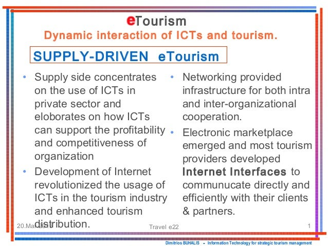 20.Mar.2015 Travel e22 1 • Networking provided infrastructure for both intra and inter-organizational cooperation. • Elect...