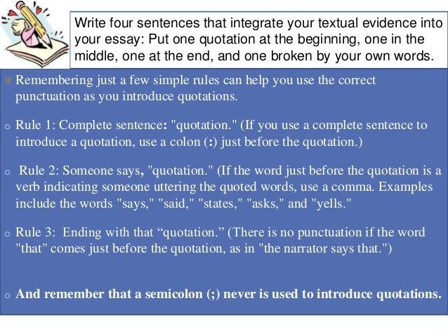 Essentials - Punctuation of Quotations - Hamilton College