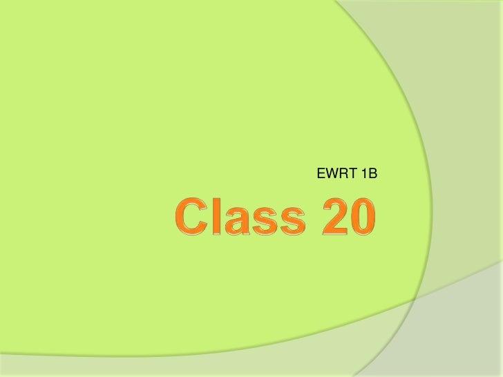 EWRT 1B