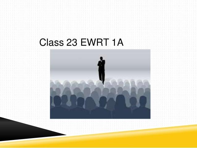 Class 23 EWRT 1A