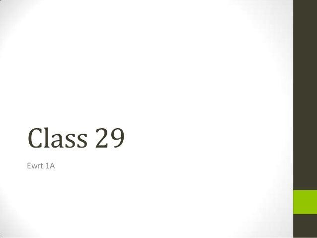 Class 29Ewrt 1A