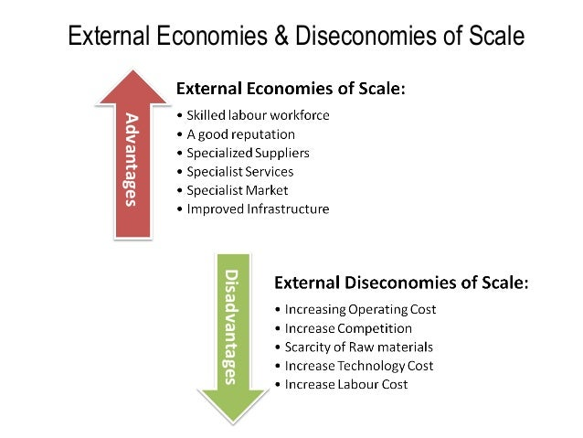 advantages and disadvantages of economies of scale The advantages and disadvantages of small scale  external economies: the small scale production secures all  the advantages and disadvantages of large scale.