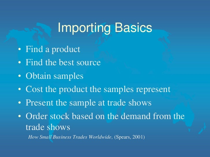 Class 2 for starting an import export business