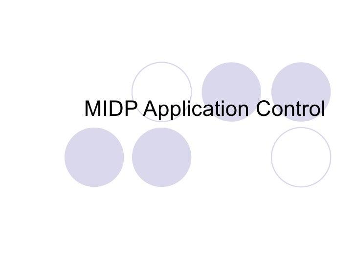 MIDP Application Control