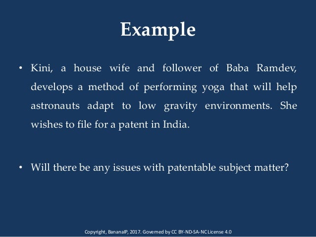 Analyzing Patentability of Inventions - Presentation by Dr