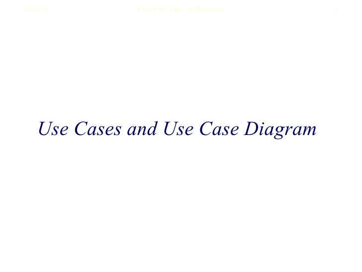 Use Cases and Use Case Diagram
