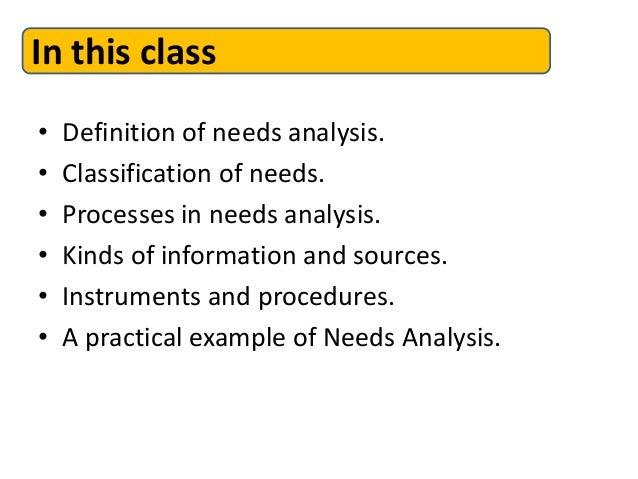 Needs Analysis Slide 3
