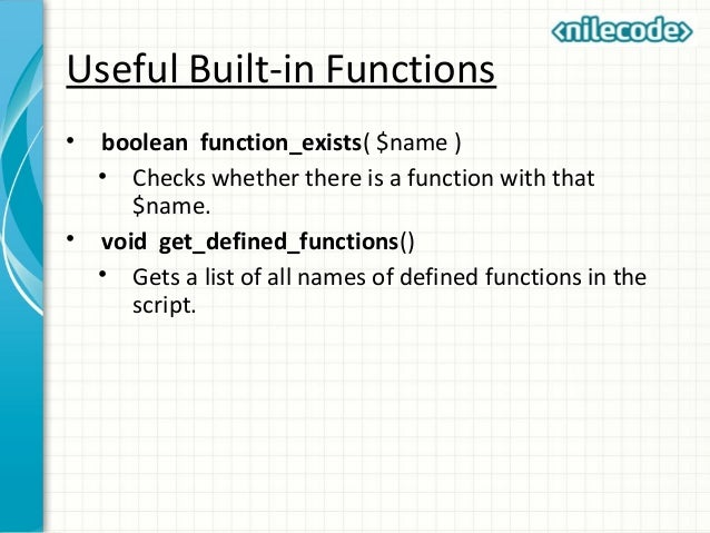PHP FUNCTIONS LIST EBOOK