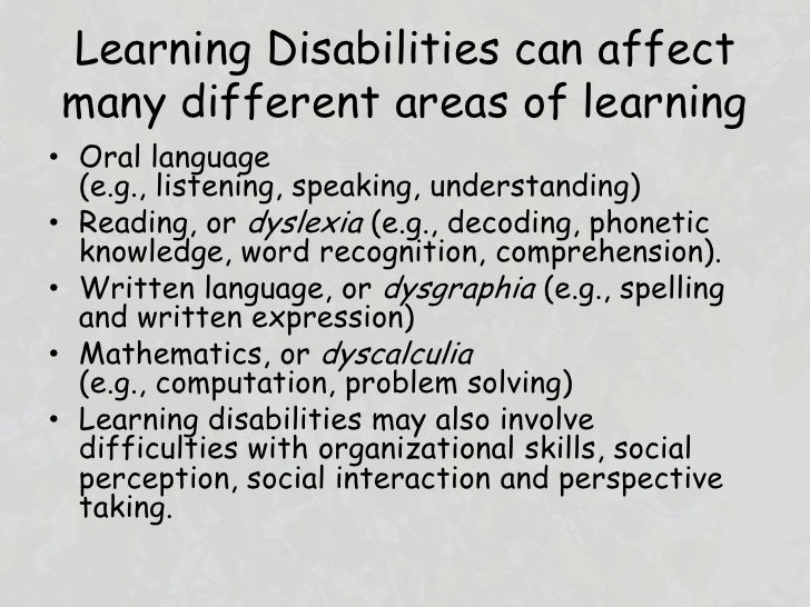 Learning disabilities - ScienceDirect
