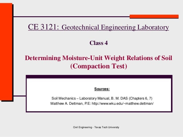 Class 4 soil compaction geotechnical engineering for Soil 95 compaction