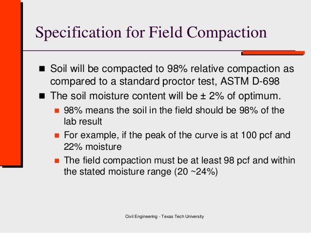Class 4 soil compaction geotechnical engineering for 90 soil compaction