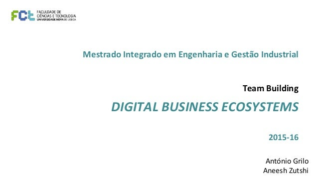 Mestrado Integrado em Engenharia e Gestão Industrial Team Building DIGITAL BUSINESS ECOSYSTEMS 2015-16 António Grilo Anees...