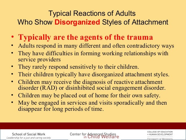 adults with disorganized attachment