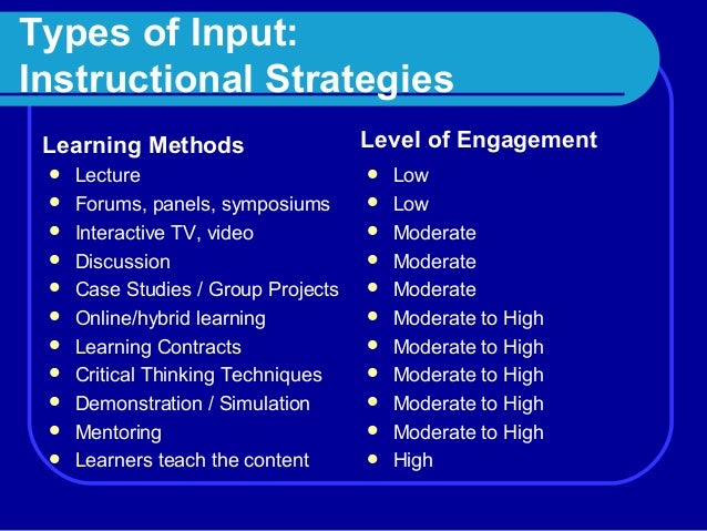 Class 4 Instructional Strategies