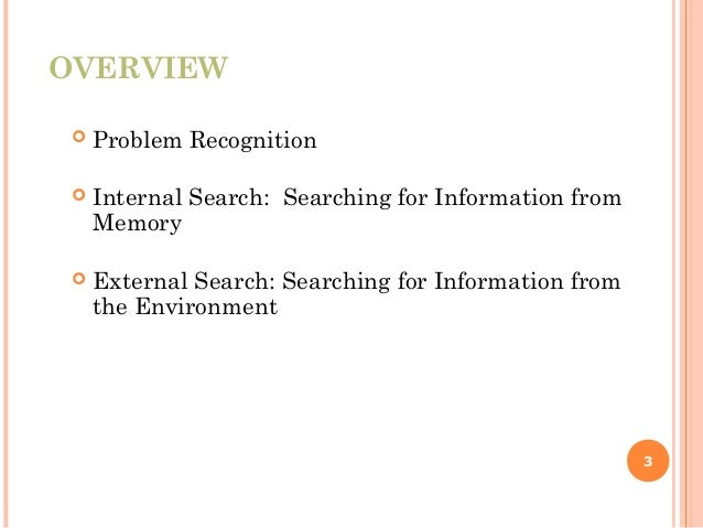 problem recognition and information search