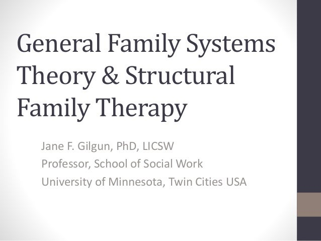 applying bowenian and structural theories Bowenian family therapy family therapy is an approach to counselling which looks at the problem a client is having as a symptom of dysfunction in the entire family family therapy believes that an individual is best understood within the context of his/her family relationships.
