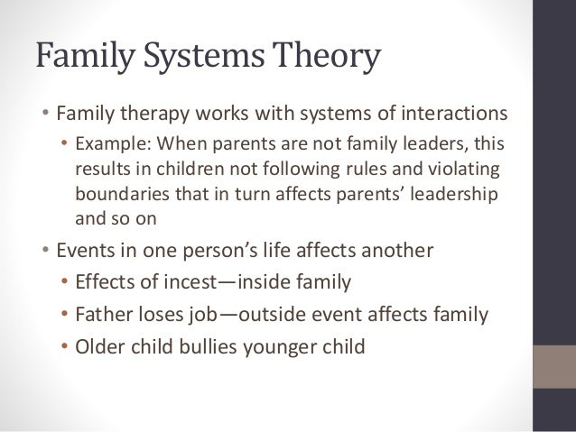 What Are Some Examples of Structural Family Therapy?