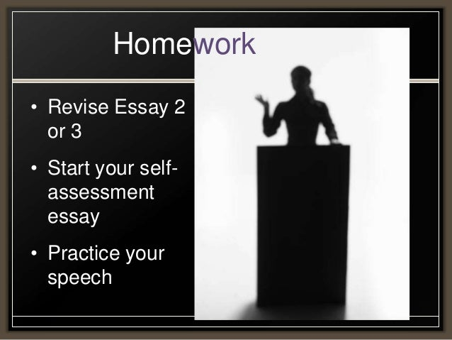 Class  Online Component  Homework Revise Essay  Writing A Proposal Essay also Essay About Healthy Diet  Essay On The Yellow Wallpaper