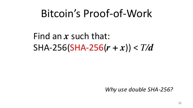 Proofs of Work